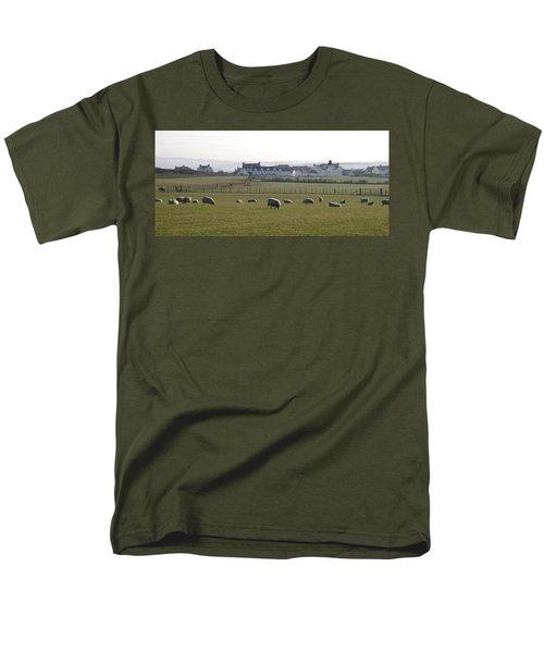 Irish Sheep Farm Men's T-Shirt  (Regular Fit) by Henri Irizarri