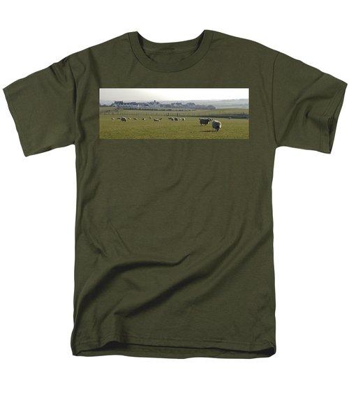Irish Sheep Farm I Men's T-Shirt  (Regular Fit) by Henri Irizarri