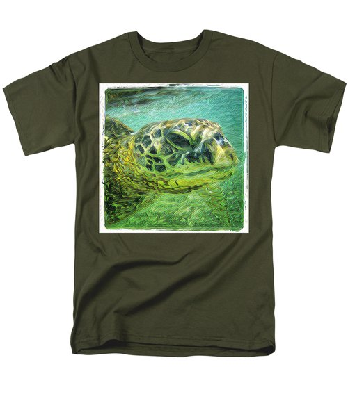Men's T-Shirt  (Regular Fit) featuring the digital art Isabelle The Turtle by Erika Swartzkopf