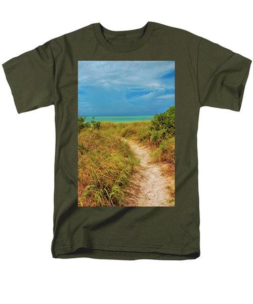 Island Path Men's T-Shirt  (Regular Fit) by Swank Photography