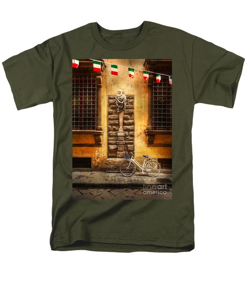 Men's T-Shirt  (Regular Fit) featuring the photograph Italia Cential Bicycle by Craig J Satterlee