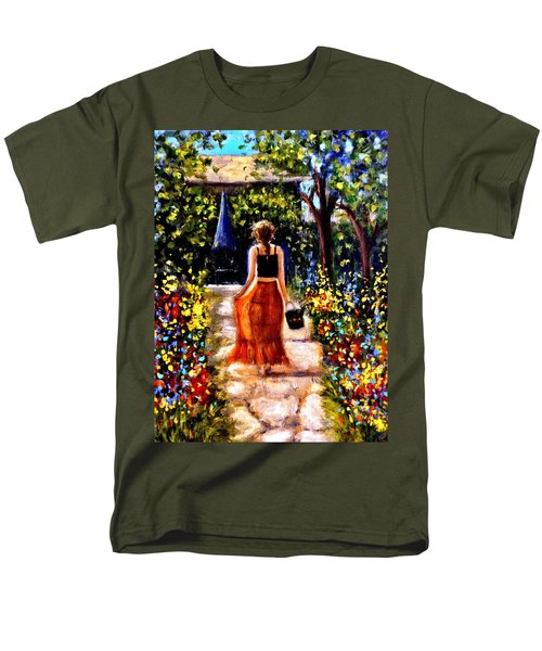 Men's T-Shirt  (Regular Fit) featuring the painting It's A Beautiful Day.. by Cristina Mihailescu