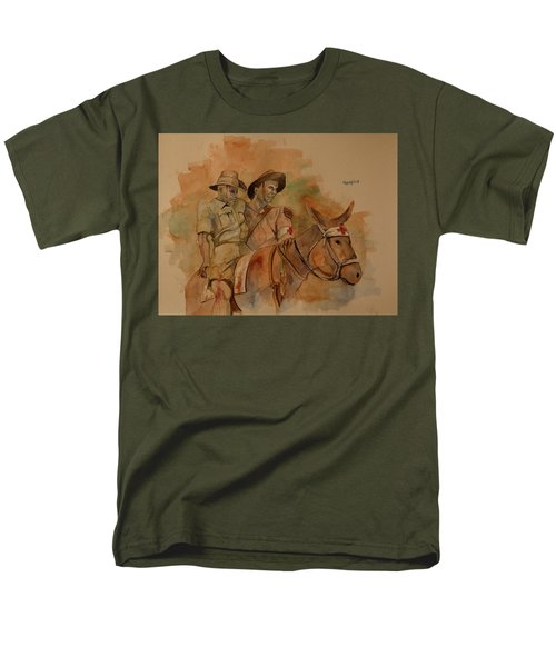 Men's T-Shirt  (Regular Fit) featuring the painting Jack Simpson And Duffy by Ray Agius