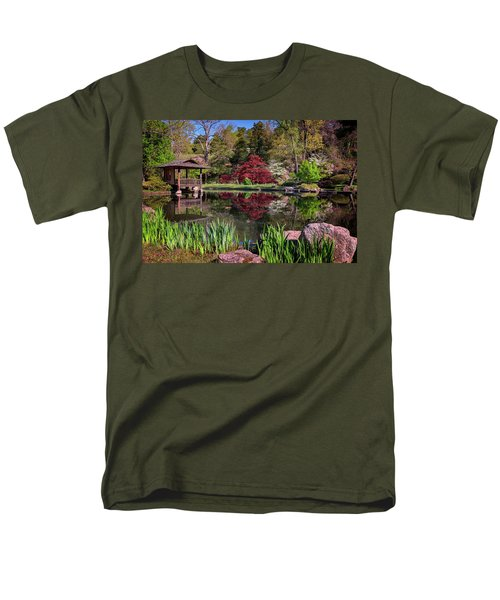 Men's T-Shirt  (Regular Fit) featuring the photograph Japanese Garden At Maymont by Rick Berk