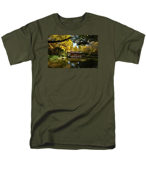Men's T-Shirt  (Regular Fit) featuring the photograph Japanese Gardens 2541a by Ricardo J Ruiz de Porras