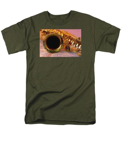 Jazz Saxophone Men's T-Shirt  (Regular Fit) by Louis Ferreira