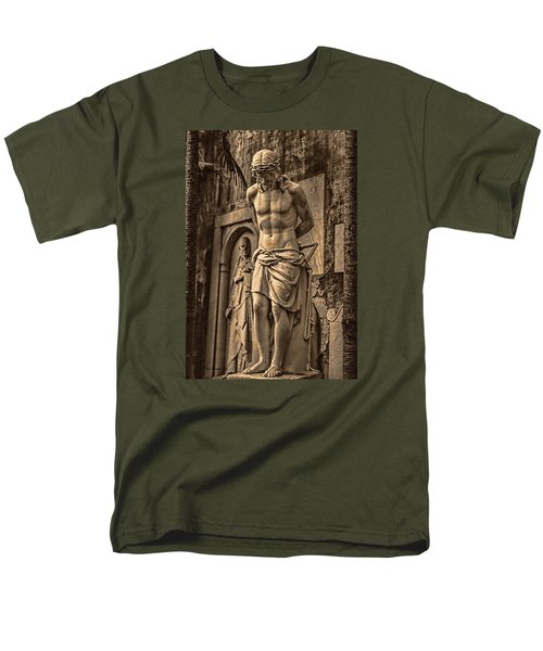 Men's T-Shirt  (Regular Fit) featuring the photograph Jesus In Rome by Trey Foerster