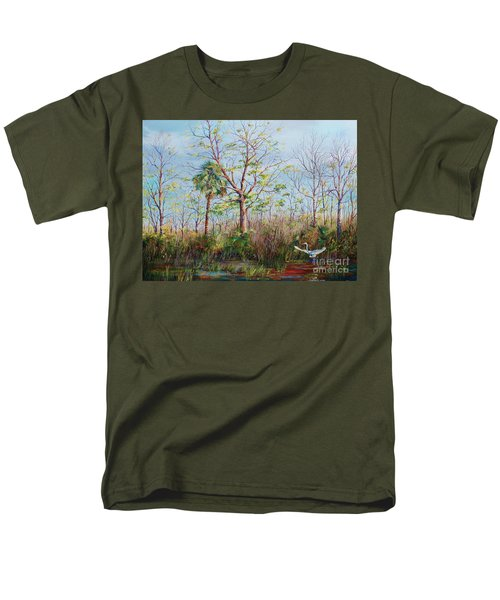 Men's T-Shirt  (Regular Fit) featuring the painting Jim Creek Lift Off by AnnaJo Vahle