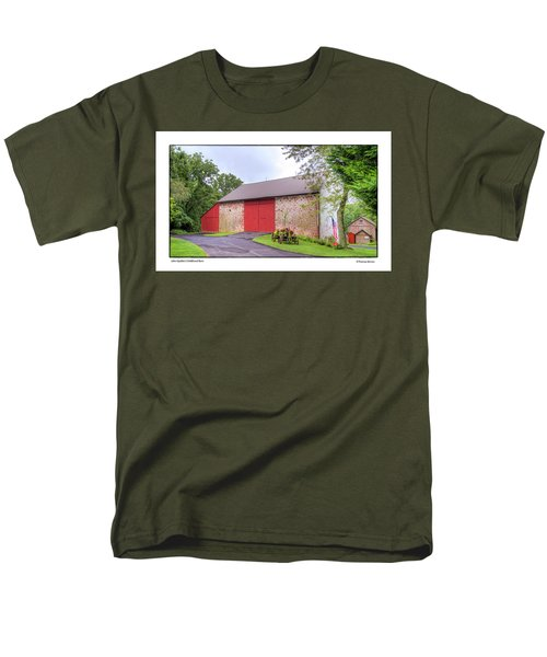 Men's T-Shirt  (Regular Fit) featuring the photograph John Updike's Childhood Barn by R Thomas Berner