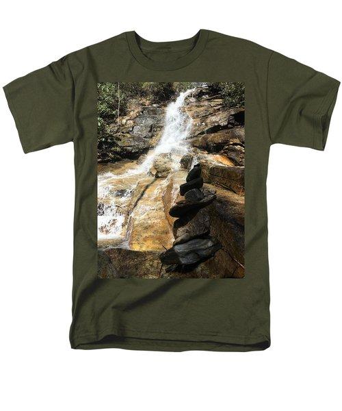 Jones Gap Falls  Men's T-Shirt  (Regular Fit) by Kelly Hazel