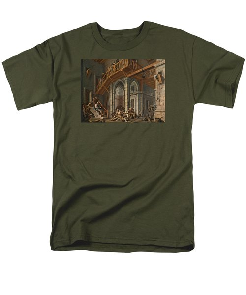 Men's T-Shirt  (Regular Fit) featuring the painting Joseph Interprets The Dreams Of The Pharaoh's Servants Whilts In Jail by Alessandro Magnasco