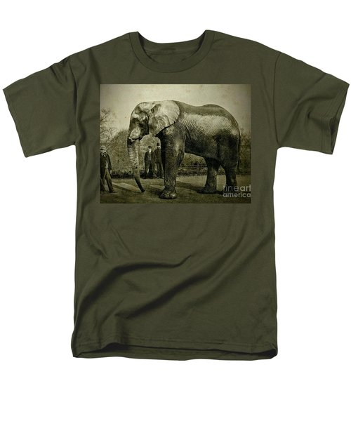Men's T-Shirt  (Regular Fit) featuring the photograph Jumbo The Elepant Circa 1890 by Peter Gumaer Ogden