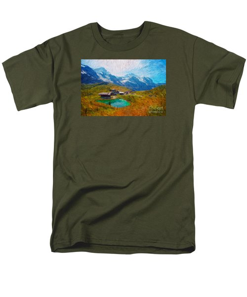 Jungfrau And Pond Men's T-Shirt  (Regular Fit)
