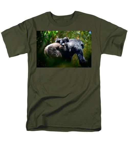 Jungle Baby Hitch Hiker Men's T-Shirt  (Regular Fit) by Lori Seaman