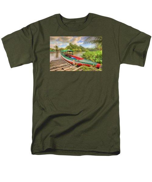 Jungle Boat Men's T-Shirt  (Regular Fit) by Nadia Sanowar