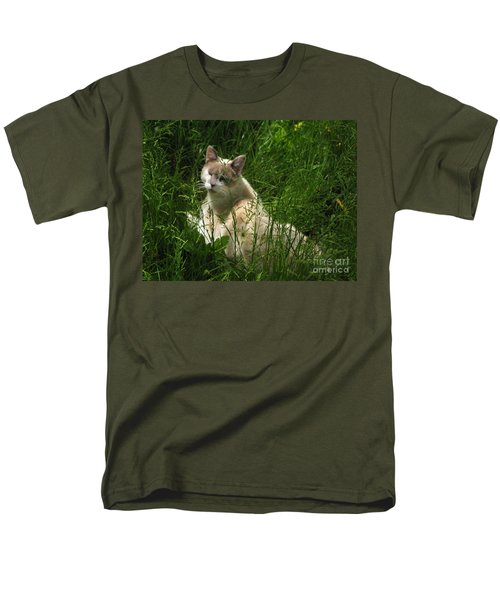 Jungle Cat Men's T-Shirt  (Regular Fit) by Sandy McIntire