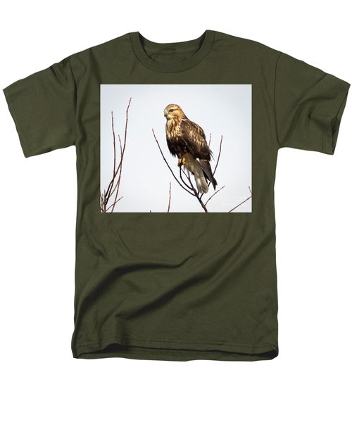 Juvenile Rough-legged Hawk  Men's T-Shirt  (Regular Fit) by Ricky L Jones
