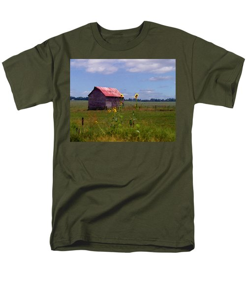 Men's T-Shirt  (Regular Fit) featuring the photograph Kansas Landscape by Steve Karol