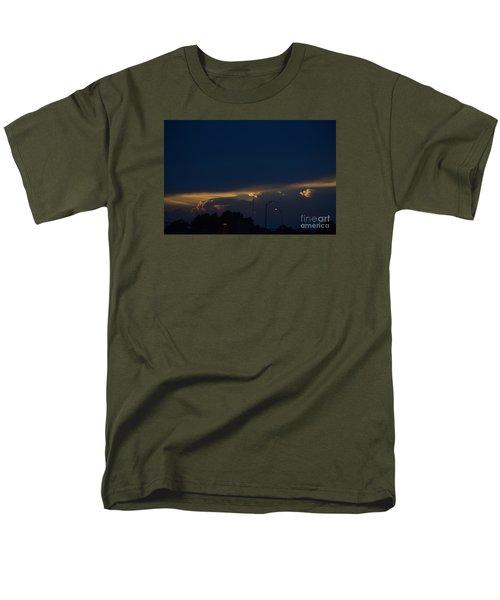 Men's T-Shirt  (Regular Fit) featuring the photograph Kansas Sunset Angel by Mark McReynolds