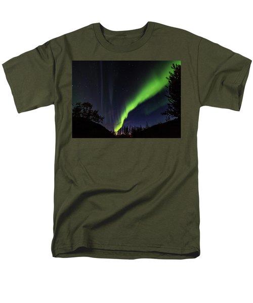 Kantishna Northern Lights In Denali National Park Men's T-Shirt  (Regular Fit) by Brenda Jacobs
