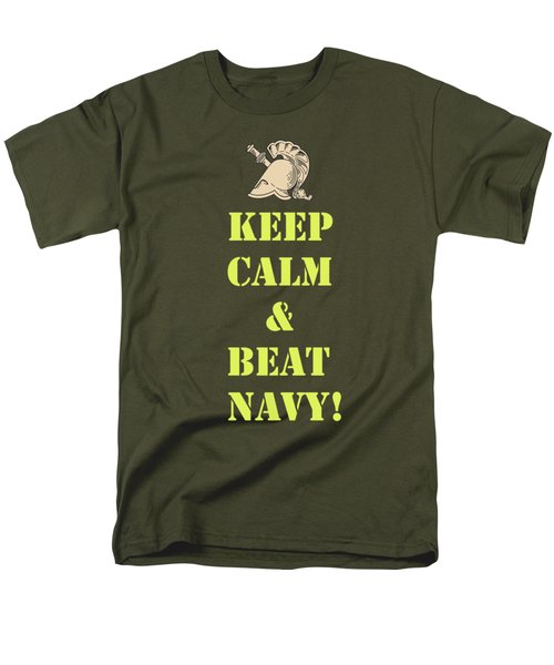 Men's T-Shirt  (Regular Fit) featuring the photograph Keep Calm And Beat Navy by Dan McManus