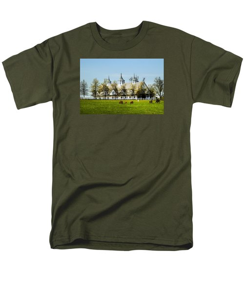 Revised Kentucky Horse Barn Hotel 2 Men's T-Shirt  (Regular Fit) by Randall Branham