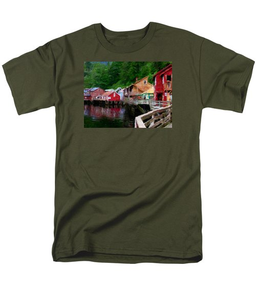 Ketchikan Alaska Men's T-Shirt  (Regular Fit) by David Hansen