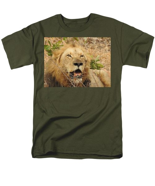 Men's T-Shirt  (Regular Fit) featuring the photograph King by Betty-Anne McDonald