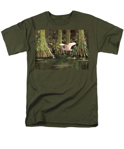 Men's T-Shirt  (Regular Fit) featuring the painting King Of The Swamp by David  Van Hulst