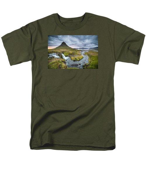 Kirkjufellsfoss 1 Men's T-Shirt  (Regular Fit) by Brad Grove