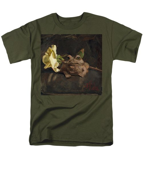 Men's T-Shirt  (Regular Fit) featuring the painting Kiss Me And Find Out by Billie Colson
