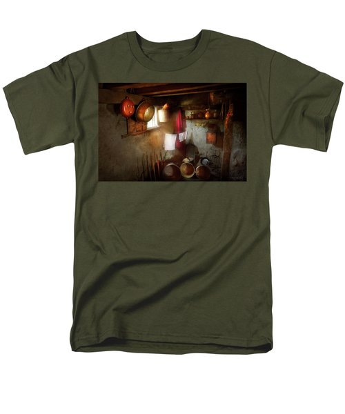Men's T-Shirt  (Regular Fit) featuring the photograph Kitchen - Homesteading Life by Mike Savad