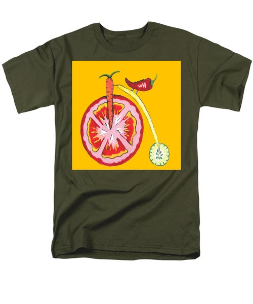 Kitchen Vegetable Art Men's T-Shirt  (Regular Fit) by Kathleen Sartoris