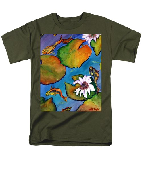 Men's T-Shirt  (Regular Fit) featuring the painting Koi Pond II Sold by Lil Taylor