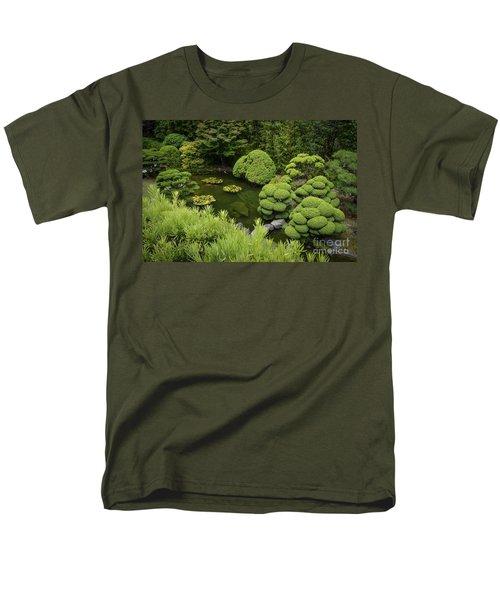 Koi Pond Men's T-Shirt  (Regular Fit) by Judy Wolinsky