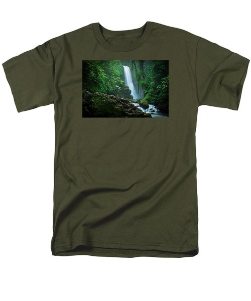 Men's T-Shirt  (Regular Fit) featuring the photograph La Paz Waterfall Costa Rica by RC Pics