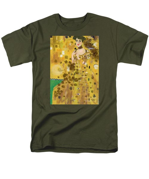 Lady In Gold Men's T-Shirt  (Regular Fit) by P J Lewis