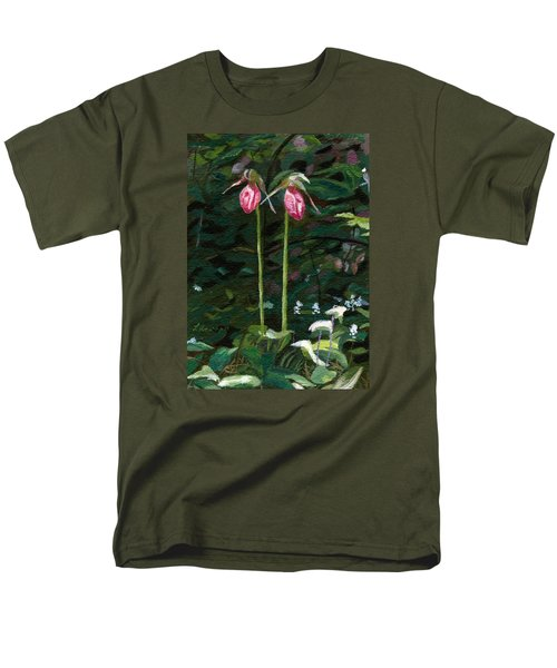Men's T-Shirt  (Regular Fit) featuring the painting Lady Slipper by Lynne Reichhart
