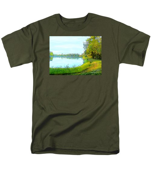 Lake And Woods Men's T-Shirt  (Regular Fit) by Craig Walters