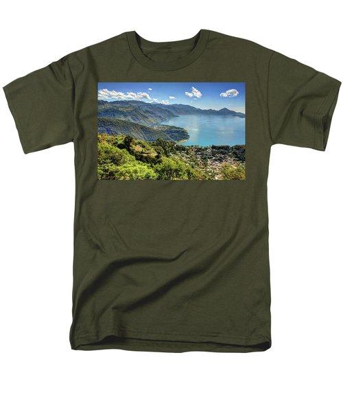 Lake Atitlan Men's T-Shirt  (Regular Fit) by John Loreaux