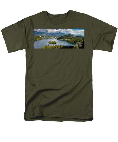 Men's T-Shirt  (Regular Fit) featuring the photograph Lake Bled Pano by Brian Jannsen