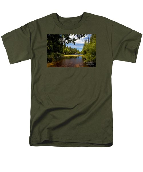 Lake Fulmor View Men's T-Shirt  (Regular Fit) by Ivete Basso Photography