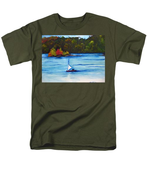 Men's T-Shirt  (Regular Fit) featuring the painting Lake Glenville  Sold by Lil Taylor