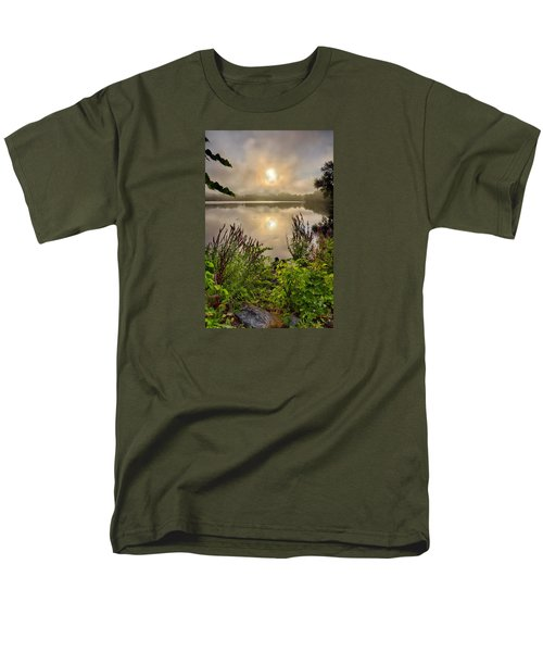 Lake Pentucket Sunrise, Haverhill, Ma Men's T-Shirt  (Regular Fit) by Betty Denise
