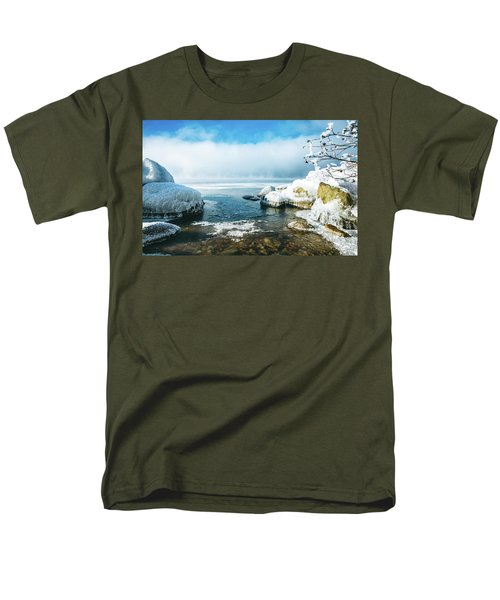 Men's T-Shirt  (Regular Fit) featuring the photograph Lake Winnisquam by Robert Clifford