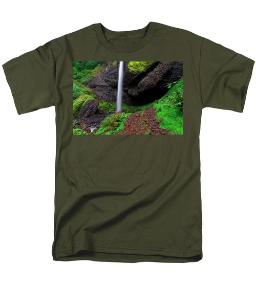 Latourell Falls Oregon Men's T-Shirt  (Regular Fit) by Jonathan Davison