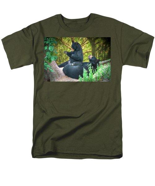 Men's T-Shirt  (Regular Fit) featuring the painting Laughing Bears by John Haldane