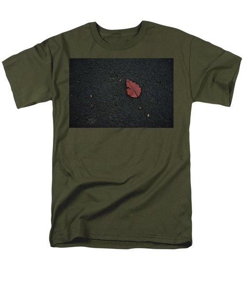 Leaf On Asphalt Men's T-Shirt  (Regular Fit) by John Rossman