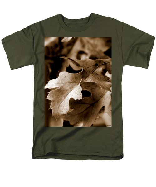 Leaf Study In Sepia IIi Men's T-Shirt  (Regular Fit) by Lauren Radke