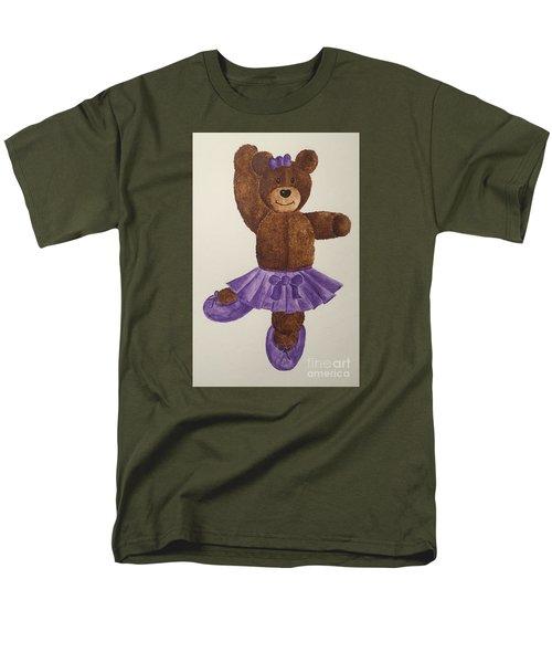Men's T-Shirt  (Regular Fit) featuring the painting Leah's Ballerina Bear 1 by Tamir Barkan